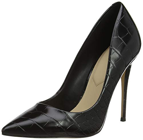 ALDO Damen Stessy Pumps, Schwarz (Black Satin 001), 38 EU