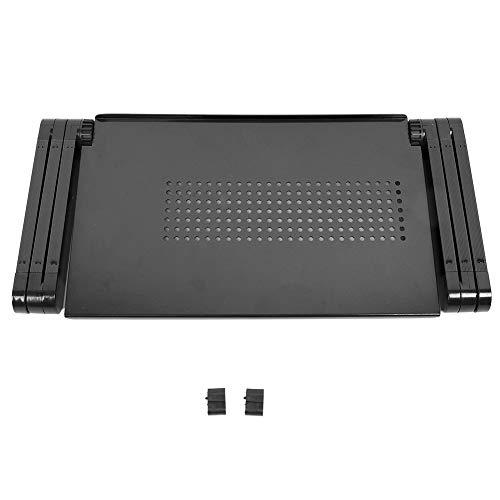 Lap Trays aus Aluminiumlegierung, klappbarer Laptopständer für Bett, Boden, Sofa, Couch, 2 Tpyes nach Wahl(schwarz)