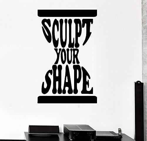 Calcomanía de pared con cita inspiración, reloj de arena motivación palabras deportivas (ed1484)