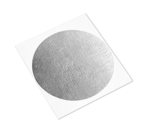 3M 1183 Silver Tin-Plated Copper Foil Tape - 1.75 in. Diameter Circles, Conductive Acrylic Adhesive Tape for Grounding, EMI Shielding [Pack of 100]