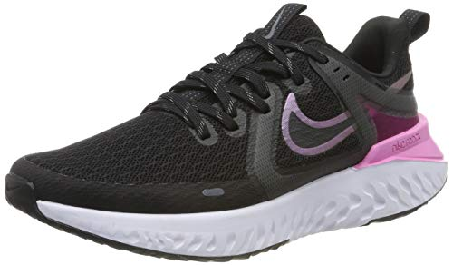 Nike Damen Legend React 2 Laufschuhe, Schwarz (Black/Cool Grey-Psychic Pink-White 004), 36.5 EU