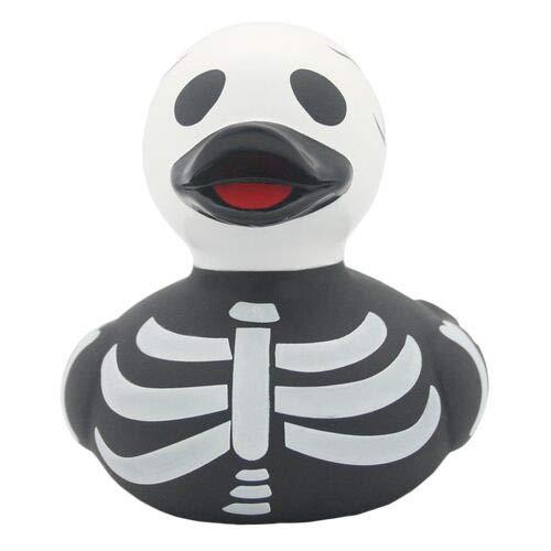 LiLaLu Badeente Gummiente Schwimmente Sammeln Ente Halloween Superheld Krone: Art: Skelett Ente