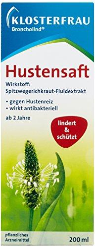 Klosterfrau Broncholind Hustensaft, 2er Pack (2 x 200 ml)
