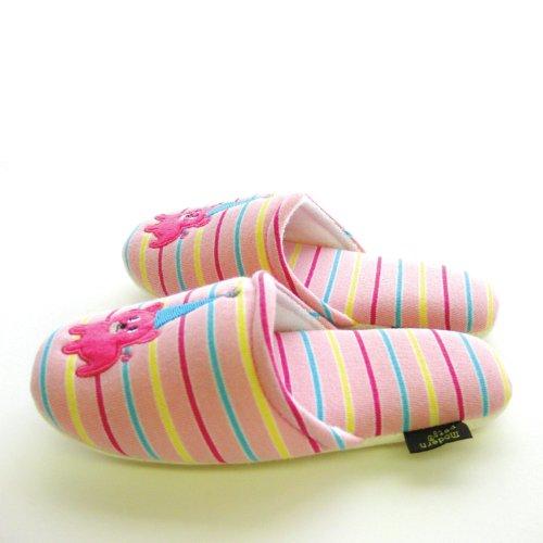 オクムラスリッパルームシューズ洗える滑り止め子供用キッズ22cmピンクモダンペットベックRDAI6905PI