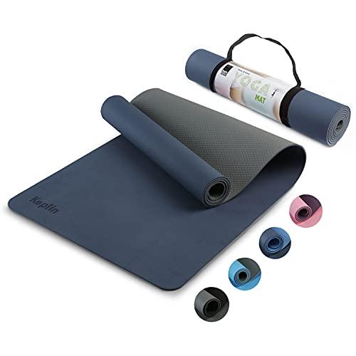 KEPLIN Yoga Mat, Non-Slip Fitness Exercise Mat, Ideal Workout Mat for Yoga, Pilates and Gymnastics -...