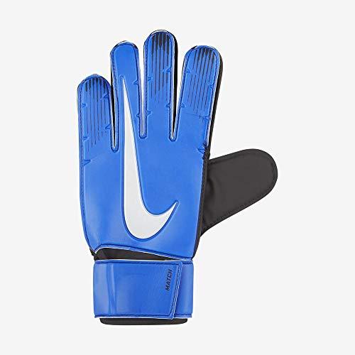NIKE Nk Gk Match-Fa18 Guantes De Portero, Unisex Adulto, Racer Blue/Black/Metallic Silver, 9