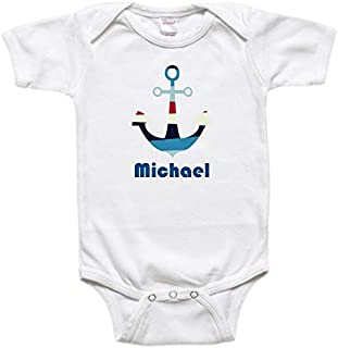 Personalized Baby Bodysuit or Toddler Shirt - Baby Gift - Anchor Nautical