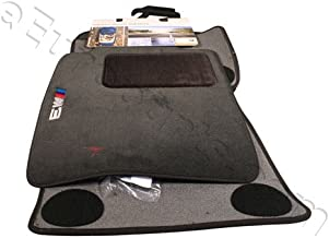 BMW Genuine M Logo Black Floor Mats E46 - 3 SERIES M3 COUPE & SEDAN (2000 - 2006), set of Four