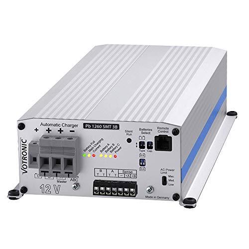 Votronic 3126 Pb 1260 SMT 3B 12V 60A  Batterieladegerät Ladestromverteiler integriert für Blei- und Lithiumbatterien