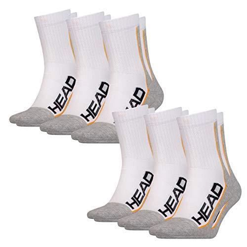 Head - Calze sportive unisex Performance Short Crew, confezione da 6 pezzi, 35-38, 39-42, 43-46 Bianco/grigio (062) 39-42