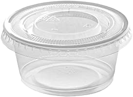 Plastic Disposable Portion Cups Souffle Cups with Lids