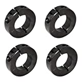 AZSSMUK 1' Bore Single Split Clamp-On Shaft Axle Collars with Set Screw of 4-Packed