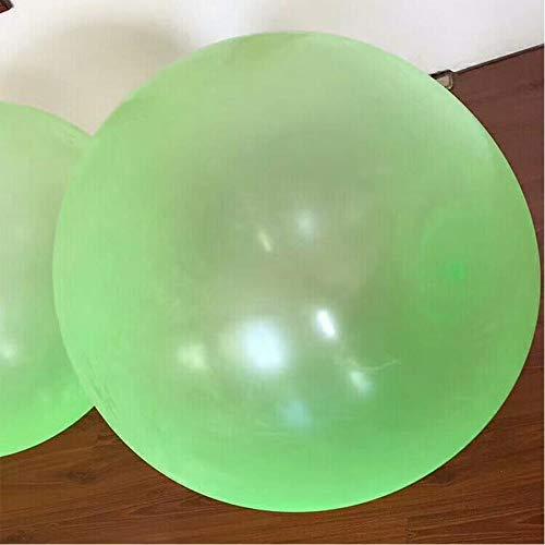 JKMQA Playa Inflable Bola de Agua Globos Arco Iris Color Bolas Verano Playa al Aire Libre Natación Juguetes Playa Bola Bebé Juguetes para niños (Color : Green Large)