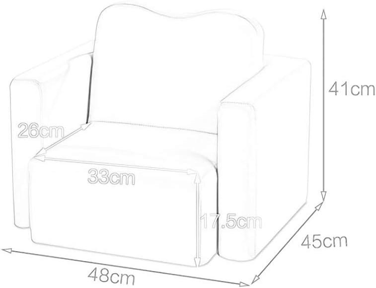 HYL Footstools Ottomans Repose-pieds Canapé Tabouret Canapé Simple Cartoon Multifonctions Chaise En Cuir Art Sofa Retour Combinaison (Color : #3) #4