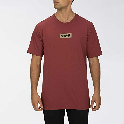 Hurley M O&O Small Box S/S Tee Shirts Homme, Cedar, FR : L (Taille Fabricant : L)