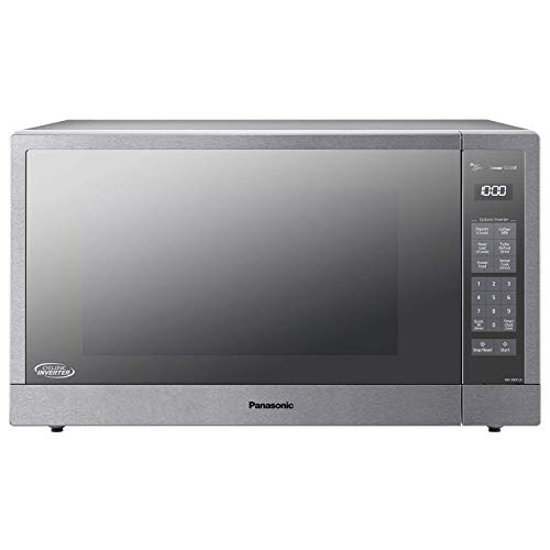 Panasonic Microwave Oven, Stainless Steel Countertop/Built-In Cyclonic Wave with Inverter Technology and Genius Sensor, 2.2 Cu. Ft, 1250W, NN-SN97JS (Renewed)