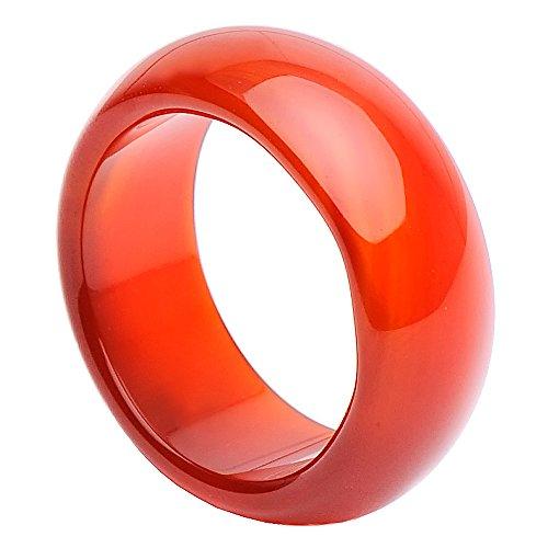 ancha Anillo de cornalina liso rojo de naranja schlicht Finger Anillo joyas