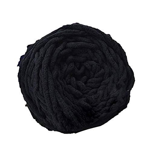 Varios colores DIY suave bufanda suéter sombrero gorra toalla hilo grueso tejer negro clásico sedoso moda