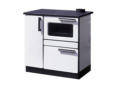 Cocina de leña color blanco PLAMAK Purline