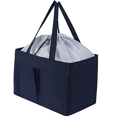 エコバッグ コンビニ 買い物バッグ 折りたたみ 大容量 カゴにセット 防水 コンパクト 収納 水や汚れにも強い