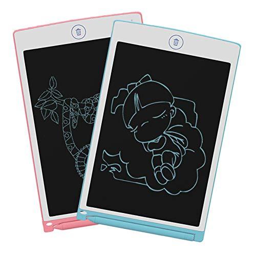 8.5 Pulgadas Tableta Gráfica Dibujo Tablero de Escritura LCD Más Grande Memo Pad Botón de Bloqueo y Borrar Regalo para Hogar,Escuela,Oficina,Viajes,Rosado