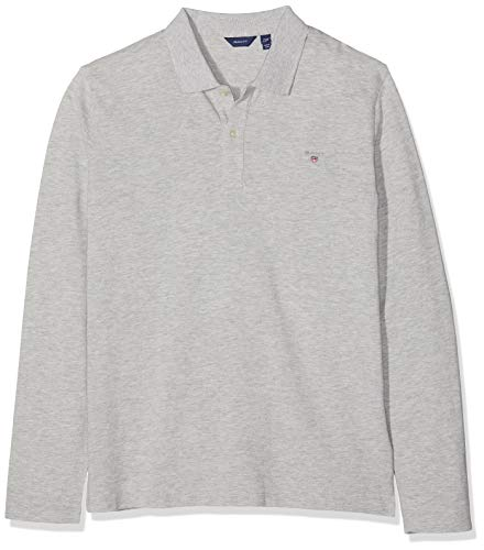 GANT Jungen D1. The ORIGINAL LS Pique Poloshirt, Grau (Light Grey Melange 94), (Herstellergröße: 134/140)