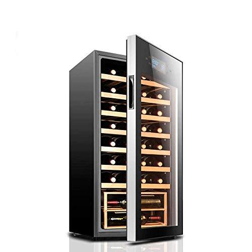 Enfriador de Vino Tinto/Blanco Independiente, Control táctil/Vidrio Templado Doble/refrigerador de Funcionamiento silencioso para el hogar/Oficina