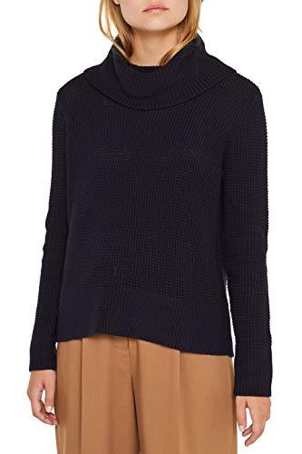 edc by ESPRIT Damen 109CC1I020 Pullover, Blau (Navy 400), Medium (Herstellergröße: M)