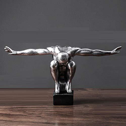 SKHF Estatua Escultura Estatua De Buceo Vintage Resina Figuras Deportivas Artesanía Escultor De Cuerpo Oficina En Casa Decoración De Escritorio Regalos-Astilla