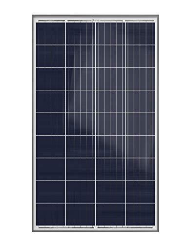 XUNZEL SOLARPOWER panel solar fotovoltaico 120 Watt 12 Volt de alto rendimiento para carga de baterías/caravana/barco/caseta/furgoneta/jardín/electrónica/iluminación