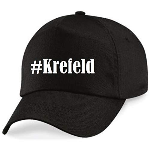 Reifen-Markt Base Cap Hashtag #Krefeld Größe Uni Farbe Schwarz Druck Weiss