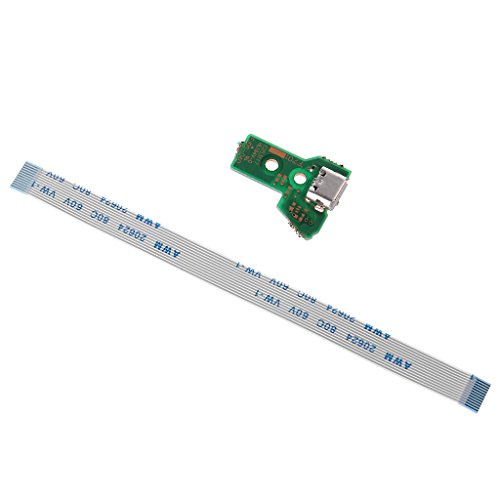 Folewr reemplaza la Placa del Puerto de Carga USB para el Controlador PS4 JDS-040 con Cable Flexible de 12 Pines