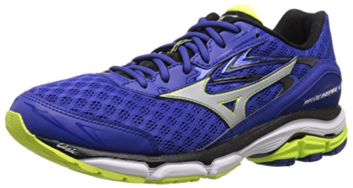 Mizuno Men's Wave Inspire 12 Running Shoe, Surf The Web/Silver, 10 D US