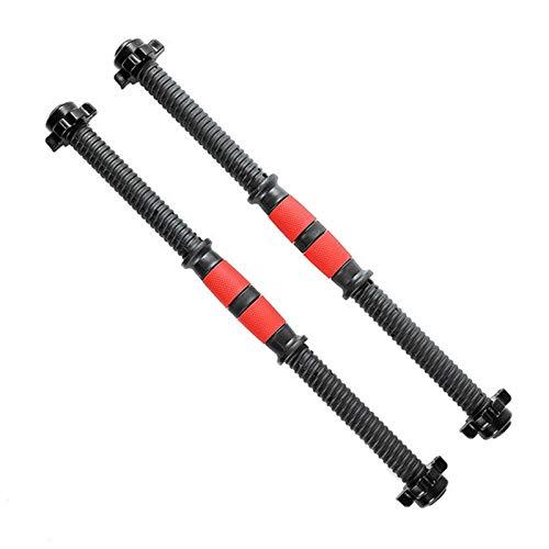 Barra de mancuernas con barra de pesas antideslizante, adecuada para diversos ejercicios de calentamiento y de musculación, fácil de instalar y quitar