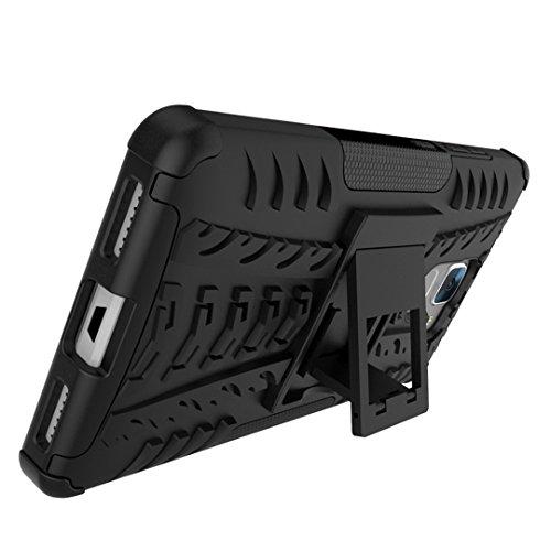 FoneExpert® Huawei Honor 7 Handy Tasche, Hülle Abdeckung Cover schutzhülle Tough Strong Rugged Shock Proof Heavy Duty Case für Huawei Honor 7 (Schwarz) - 3