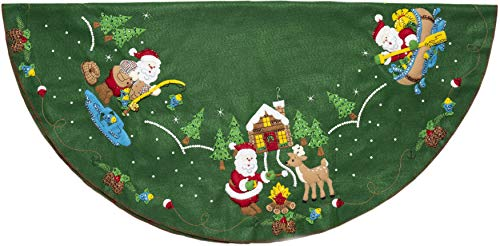 Bucilla Lodge Santa Felt Applique Kit