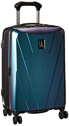 Travelpro Maxlite 4-Hardside Luggage with Spinner Wheels, Black/Green