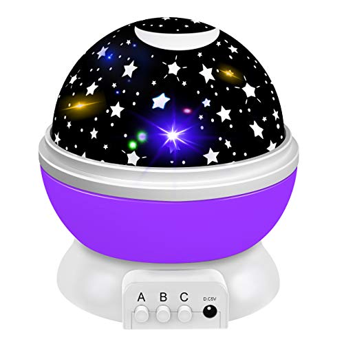 Dreamingbox Toys for 1-10 Year Old Girls Boys, Star Night Lights Projector for Kids Magic Toys for 1-10 Year Old Boys Girls 2020 Birthday Gifts for Boys Girls Stocking Fillers Purple TGUSYD06