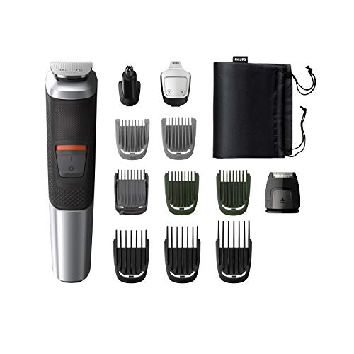 Philips MG5740/15, 12-in-1, Face, Hair and Body - Multi Grooming Kit. Dual Cut Blades for Maximum Precision, 80 Mins Run Time (Silver)