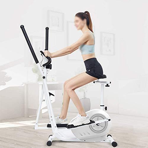 Wghz Macchina ellittica, Macchina per Il Fitness Cross Trainer Ellittica con 8 Livelli di Resistenza e sensore di frequenza cardiaca Macchina per Allenamento Cardio Fitness