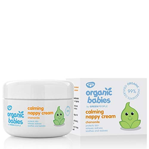 GREEN PEOPLE Organic Babbies Nappy Cream with Chamomile Baby Balm - 50Ml