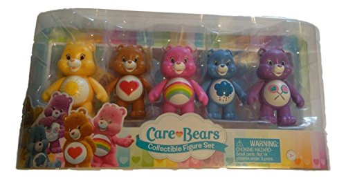 Care Bears, Figurine Set [Tenderheart, Share, Cheer, Funshine, and Grumpy Bear], 5-Pack, 3 Inches by Care Bears