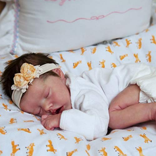 LHYAN Lifelike Baby Doll, 22 Inch Sleeping Reborn Baby Dolls, Cute Realistic Newborn Baby Reborn Doll with Accessories for Children,Silicone body