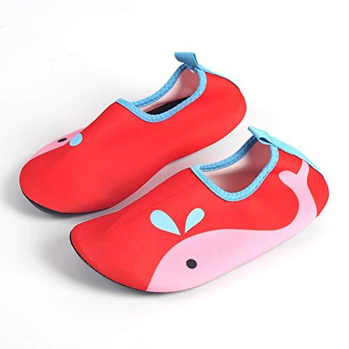 QXue Zapatos de Deportes Acuaticos Barefoot niño Zapatillas de Trail Running Minimalistas Zapatillas de Deporte Exterior Interior,Rojo,35 EU
