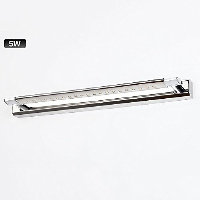 DRM Edelstahl Führte Lange Spiegel Vorne Licht Spiegel Schrank Lichter Wc Bad Wandleuchte (47Cm Weies Licht)
