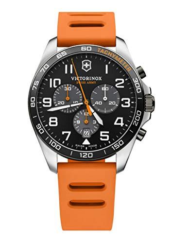Rellotge Victorinox Field Force Sport V241893 - Reloj de maquinaria Suiza, con Correa de Silicona Naranja