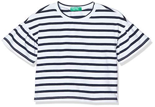 United Colors of Benetton Baby-Mädchen T-Shirt Pullunder, Blau (Bianco/Blu 903), 80/86 (Herstellergröße: 1y)