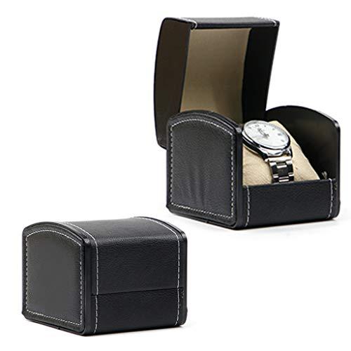 gszfsm001 - Caja de reloj de lujo de piel sintética, caja de almacenamiento de joyas, caja de presentación de plantas, con funda de almohada para reloj, soporte de pulsera