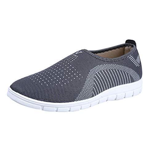 Zapatillas de Deportivos de Running para Hombre Gimnasia Ligero Sneakers Zapatos Casuales Transpirables de Fondo Plano Deporte Zapatos Perezosos Comodas Sports riou