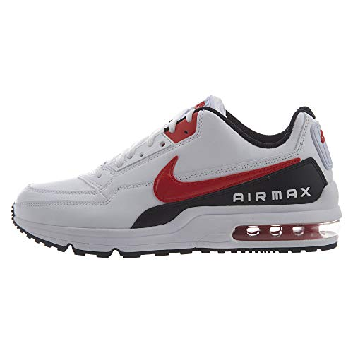 Nike Mens AIR MAX LTD 3 Sneaker, White/University Red-Black, 45.5 EU